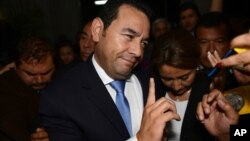 Džimi Morales, predsednički kandidat stranke desnog centra (FCN) u Gvatemali, 25. oktobar 2015.