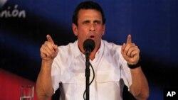 Tokoh oposisi Venezuela, Henrique Capriles akan mengajukan protes resmi hasil Pilpres ke MA Venezuela hari Kamis (2/5).