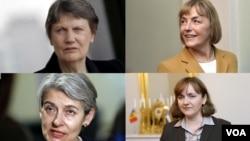 چهار نامزد زن برای جانشینی بان کی مون - ردیف بالا از چپ: هلن کلارک و وسنا پوسیچ. پایین از چپ: ایرینا بوکووا و ناتالیا گرمان