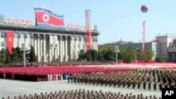 북한 조선노동당 창건 60주년 군사행진(자료사진)