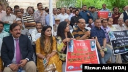 عالمی یوم آزادی صحافت کے موقع پر اسلام آباد میں صحافیوں کا مظاہرہ