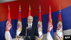 Predsednik Boris Tadić je danas u Predsedništvu Srbije dao izjavu novinarima povodom raspisivanja parlamentarnih izbora