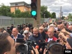 Glumac Emir Hafizbegović odazvao se protestima usmjerenim protiv VSTV-a BiH, Sarajevo, 29. maj 2019