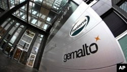 """Exterior view of the building housing the head office of Gemalto, which produces """"subscriber identity modules"""", or SIM cards, in Amsterdam, Netherlands, Feb. 20, 2015."""