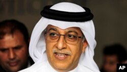 FILE - Sheikh Salman bin Ibrahim Al Khalifa is seen in a April 30, 2015, photo.