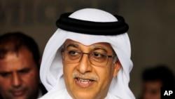 Le cheikh Salman, le 30 avril 2015 au Bahrein.(AP Photo/Hasan Jamali, file)
