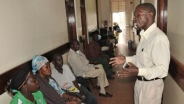 Patients waiting for AIDS treatment in Kampala, Uganda (2012 photo)