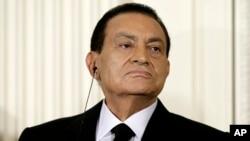 Le président égyptien Hosni Moubarak le 1er septembre 2010.