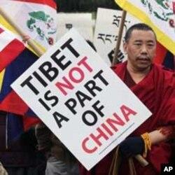 流亡藏人近日在全球各地示威要求關注西藏情況(資料圖片)