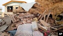 Gempa menghantam Kabupaten Tark, di Provinsi Azerbaijan Timur, Iran, Jumat, 8 November 2019.