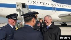 2017年2月2日美国国防部长马蒂斯抵达韩国