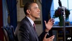 Predsjednik Obama objašnjava pojedinosti svog proračuna u subotnjem obraćanju naciji, 12. veljače 2011.