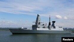 Chiến hạm Anh HMS Defender đến cảng Odessa của Ukraine ở Biển Đen hôm 18/6/2021.