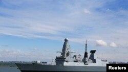 British Royal Navy's Type 45 destroyer HMS Defender