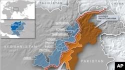 Bản đồ khu vực bất ổn dọc theo biên giới Pakistan-Afghanistan