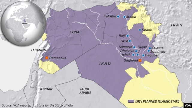 Territory within Syria and Iraq, ISIL's Planned Islamic State