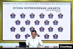 Juru Bicara Satgas Penanganan COVID-19 Prof Wiku Adisasmito dalam telekonferensi pers di Istana Kepresidenan, Jakarta, Kamis, 26 November 2020. (Biro Setpres)