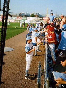 Players enjoy a close relationship with some of their fans. Many players live with a local family during the season.