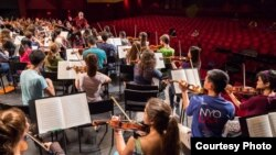NYO-USA Rehearsals with Valery Gergiev at SUNY Purchase. (Photo courtesy Chris Lee)