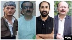 از راست: بیژن عبدالملکی، امیرعباس آزرموند، محمدعلی منصوری و سعید فتحینژاد