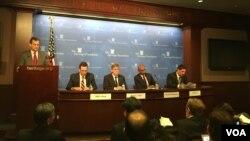 傳統基金會舉辦台灣新南向政策研討會(美國之音鐘辰芳拍攝)