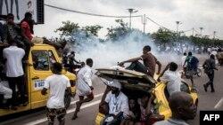 Police epanzi balanadi ba Felix Tshisekedi na Vital Kamerhe na Kinshasa, 27 novembre 2018