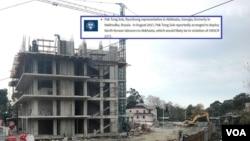 """სასტუმრო """"სოხუმის რივიერას"""" ოკუპირებულ აფხაზეთში, ჩრდილო კორეელი მუშები აშენებენ"""