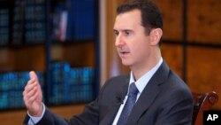敘利亞總統阿薩德9月25日接受電視台採訪