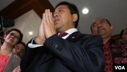 Ketua Dewan Perwakilan Rakyat Setya Novanto. (Foto: VOA/Fathiyah)