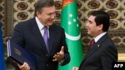 Президенти Віктор Янукович і Гурбагули Бердимухамедов