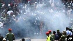 10月1日庆祝尼日利亚独立日其间发生爆炸的现场