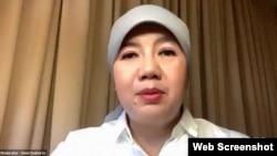 Dewi Soeharto, Wakil Ketua Dewan Pembina Yayasan Sayangi Tunas Cilik menekankan pentingnya mendengar suara anak dalam penanggulangan dan pengurangan risiko bencana, Rabu (19/8) (Foto: Tangkapan layar)