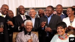 To celebrate the 20th anniversary of the release from prison of Nelson Mandela, former members of the national reception committee were brought in together in Johannesburg, 04 Feb 2010, by Winnie and Zindzi to reminisce about the event of 11 February 1990