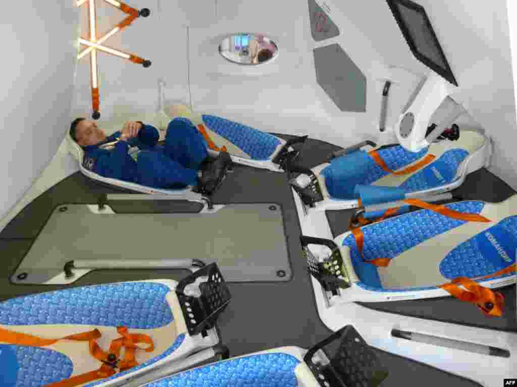 Внутренний вид этого космического корабля