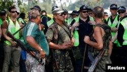 Separatis pro Rusia siaga di wilayah Donetsk Ukraina timur (4/8).