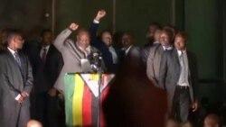 Mnangagwa On State Before Delivering Speech at Zanu PF Headqurters