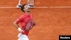 Novak Djokovic durante el Adria Tour en el Novak Tennis Center en Belgrado, Serbia, 12 de junio de 2020. Fotografía tomada el 12 de junio de 2020.