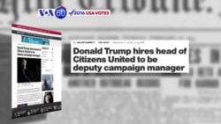 VOA60 Elections - CBS News: Donald Trump hired veteran conservative political operative David Bossie