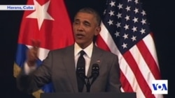 Obama Notes Progress in US Democracy During Cuban Speech