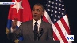 Obama Notes Progress in US Democracy During Cuban Speech