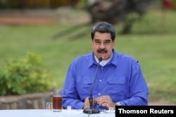 Nicolás Maduro habla durante un evento con los jóvenes del Partido Socialista Unido de Venezuela en Caracas.
