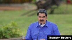 Foto de archivo del presidente en disputa Nicolás Maduro durante un evento con los jóvenes del Partido Socialista Unido de Venezuela, en Caracas.