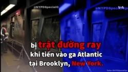 Tàu New York trật đường ray, 103 người bị thương