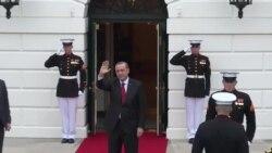 Cumhurbaşkanı Erdoğan Beyaz Saray'a Girerken