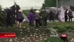 Công an dùng vòi rồng giải tán người biểu tình ở Hải Dương