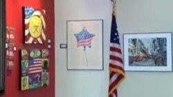 نمایشگاه آثار هنری با الهام از پرچم آمریکا