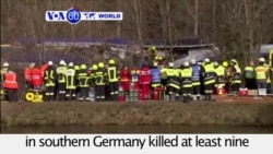VOA60 World PM - At Least 9 Dead in German Train Crash