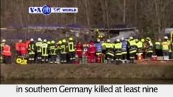VOA60 World PM - At Least 9 Dead in German Train Crash