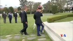 2014-03-26 美國之音視頻新聞: 奧巴馬抵達布魯塞爾與歐盟北約舉行會談
