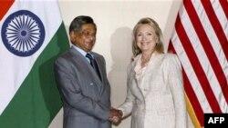 С.М. Кришна и Хиллари Клинтон
